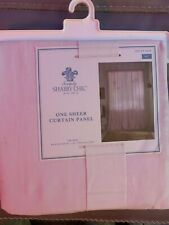 simply shabby chic curtain Panel Sheer Pink