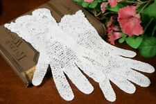 Antique Hand Crocheted Gloves With Double Row Of Roses