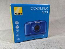 Blue Nikon Coolpix S33 Under Water Camera