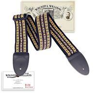 Walker & Williams Vintage Series H-24 Tapestry Woven Guitar Strap