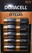 (10) Duracell Coppertop Alkaline D Batteries - NIP