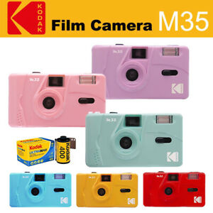 Kodak Vintage retro M35 35mm Reusable Film Camera / UltraMax 400 Film Bundle