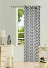 3 Panels of Printed Voile Sheer Window 8 Grommet Curtain Treatment Drape 63 inch