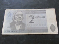 Banconata Estonia Billetes 2 Kaks Krooni Circular