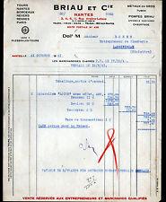 """NANTES (44) QUINCAILLERIE , CHAUFFAGE & APPAREIL MENAGER """"BRIAU & Cie"""" en 1941"""