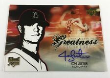 2006 Upper Deck Jon Lester Clear Path to Greatness Rookie Autographed Auto AR3