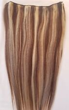 """20"""" 100gr, Highlighted Weft Weaving 100% Human Hair Extensions (No Clips)#4/613"""