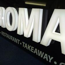 Iluminado construido Acrílico 3D letras y formas cualquier Tamaño o signo de tienda de fuente