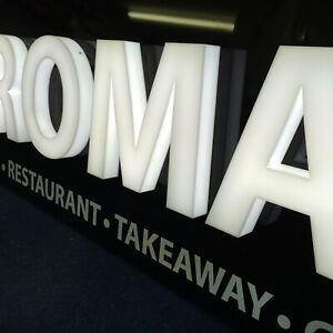 ILLUMINATED BUILT UP ACRYLIC 3D LETTERS & SHAPES ANY SIZE OR FONT SHOP SIGN