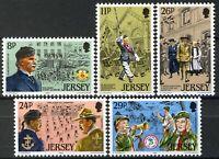 Jersey 1982, Youth organizations set VF MNH, Mi 288-92 3,5€