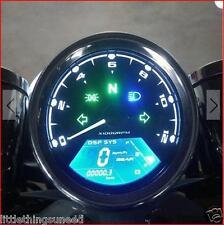 Motocicleta, Clásico, Digital, odómetro, km/h, MPH, Chop, Trike, Personalizado, crucero
