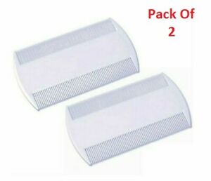 2X White Double Sided Nit Combs for Head Lice Detection