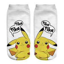 Novelty Casual 3D Printing Ankle Socks Adult Unisex Go Pikachu Sock
