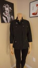 Fabulous black Zenergy by Chico's light weight jacket SZ 1 super chic