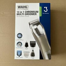 Wahl 14 in 1 Hair Clippers Trimmer Multi Groomer Rechargeable Silver Cordless