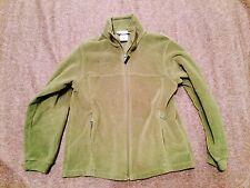 boys kids youth 14-16 COLUMBIA green zip FLEECE jacket coat base warm soft NWOT