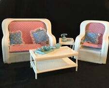 Barbie Wicker Living Room Set