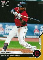2020 Topps Now - OS-14 Jose Ramirez - Cleveland Indians - Gold Parallel 1/1