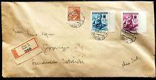Böhmen und Mähren MiNr. 62 63 Randstücke MiF mit 100 Einschreiben Prag Göppingen