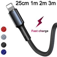 2M 3M Extra Long USB Lightning Lead For Apple iPhone Fast Charge Charger Cable