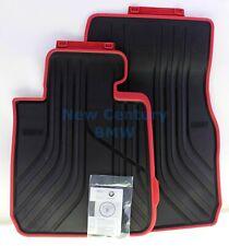BMW Genuine Floor Mat Front All-Weather Floor Mats Sport Line Red F32 F33