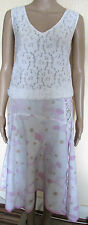 WHITE FLORAL COTTON SUMMER SKIRT SIZE 12
