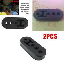 2Pcsx Car Rubber Exhaust Tail Pipe 4 Holes Mount Bracket Hanger Insulator Black