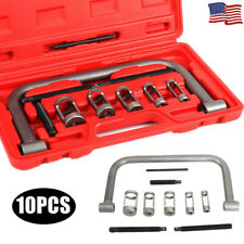 10Pcs Cylinder Head Valve Oil Seal Removal Spring Compressor C Clamp Tool W/ Box