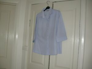 Ladies Blouse Design Biz Collection Size 16 3/4 Sleeves Polyester/Cotton
