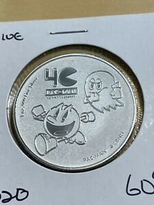 2020 Niue 2 Dollars Reverse Proof Pac-man Silver Coin!!