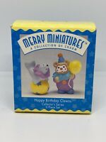 Happy Birthday Clowns`1996`Merry Miniatures-2 Piece Hallmark Figurine Set New
