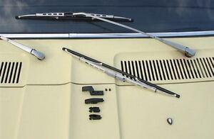 Mercedes Benz MB DB Heckflosse W 110 111 W110 W111 Wiper Blades silver NEW !!!