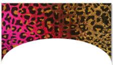 20 water slide nail art  dark pink , gold leopard print french tip Trending