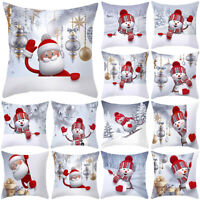 Christmas Xmas Pillowcase Waist Throw Pillow Case Cushion Covers Home Sofa Decor