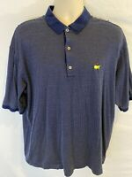 Bobby Jones Masters Logo Men's XL Polo Short Sleeve Shirt Italy Navy Blue Dots