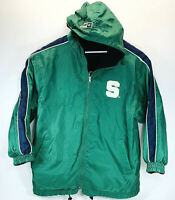Vintage Coloseum Sports Michigan State MSU Hooded Reversible Jacket Coat Size L