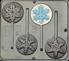 Snowflake Lollipop Candy Mold FROZEN Movie Favor Choc. Mold Christmas 2058 NEW