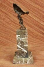 "Flying Lady ""Spirit of Ecstacy"" Rolls Royce Symbol Solid Bronze Sculpture Figure"