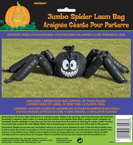 Halloween Giant Spider Lawn Leaf Bag Decoration Prop Halloween Garden Decoration