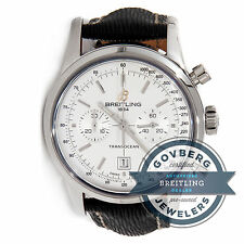 Breitling Transocean Chrono A4131012G757 Auto 38mm Steel Mens Strap Watch Date