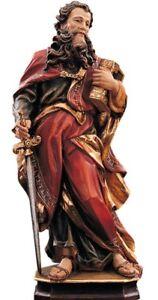 Statue von San Paolo CM 15 Geschnitzt IN Holz Der IN Gröden Anstand Hand