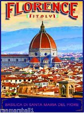 Florence Italy Basilica di Santa Maria del iore Original Travel Poster ShaynaMar