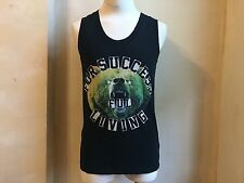 DIESEL SUPER COOL FOR SUCCESS BEAR FULL LIVING BLACK T SHIRT SINGLET S L STAR