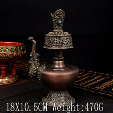 Tibet Tibetan Buddhist Mikky abhiseca Divine Focus Ritual Vessel Offering Pot