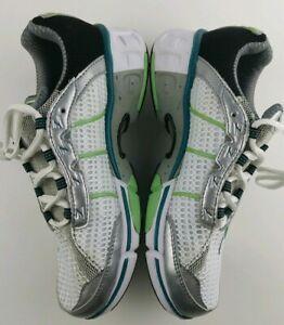 Zoot Women's Size 6.5 Advantage 2.0 Running Shoes White Green Blue #398