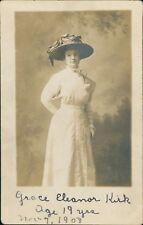 Grace Eleanor Kirk. Age 19. 1908.   RL.539