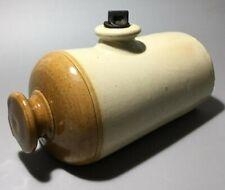 Vintage Earthenware Ceramic Pottery Hot Water Bottle Hoffmans? Bendigo?
