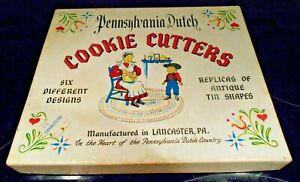 Vintage  Cookies Cutters Pennsylvania Dutch   Set of 6