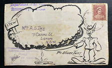 1942 Army PO Australia Censored Illustrated Front Cover To Lismote Olive Twist