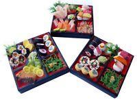 3 Lovely Mix Dollhouse miniature Sushi Bento ,Tiny Food,Japanese Food